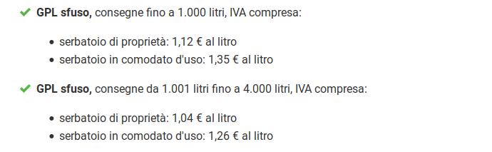 COSTO GAS GPL
