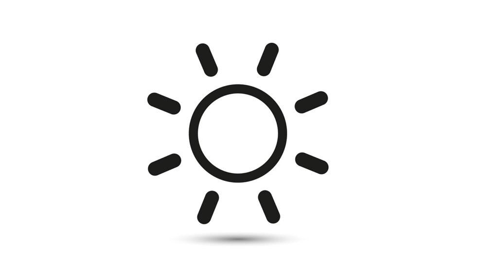 simbolo sole calore